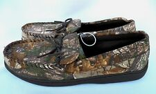 NEW MENS REALTREE CAMO CAMOUFLAGE MOCCASIN SLIPPERS SIZE 11/12