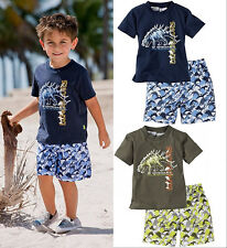 Summer Baby Kids Beach Wear Clothes Dinosaur T-shirt Pants Outfits set 1~6Y