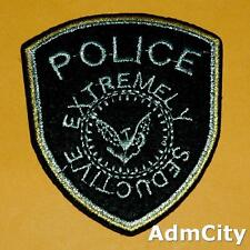 Police Badge Extremely Seductive Iron on Sew Patch Applique Badge Embroidered.