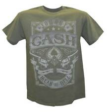 Johnny Cash Men's Mean as Hell T-Shirt, Green, ZRJC1010