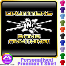 Drum Fist and Sticks Bang Anything - Music T Shirt 5yrs - 6XL by MusicaliTee