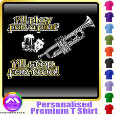 Trumpet Play For A Pint - Personalised Music T Shirt 5yrs - 6XL by MusicaliTee
