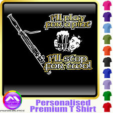 Bassoon Play For A Pint - Personalised Music T Shirt 5yrs - 6XL by MusicaliTee