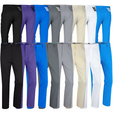 2016 Adidas Puremotion Stretch 3-Stripes Pants Mens Golf Flat Front Trousers