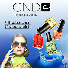 Genuine CND Vinylux 7 Day Weekly Wear Nail Polish Varnish Top Coat 15ml A-L