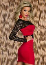 NEW STRETCH SEXY CLUBWEAR AFTERFIVE OCCASSION PARTY DRESS RED,BLACK OR PURPLE