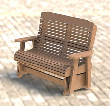 Wooden Double Glider/Rocker Building Plans - Easy to Build - Paper Plans Only