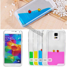 Swimming Fish Aquarium Dynamic Liquid Quicksand Case Cover For Samsung Galaxy