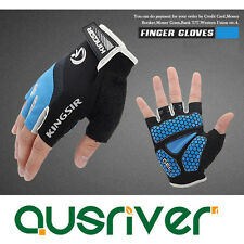 New Cycling Bicyle Half-Finger Gloves Bike Motorcycle Antiskid Padded 3 Colours