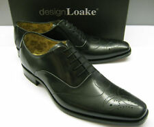 LOAKE MENS GUNNY BLACK CALF LEATHER LACE SHOES NEW IN
