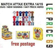 MATCH ATTAX EXTRA 14/15 CHOOSE FROM DUO / NEW SIGNING / HAT-TRICK HERO CARDS