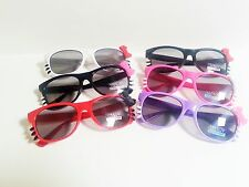 Kids Size Hello Kitty Sunglasses Assorted Bow and Frame Colors With Whiskers