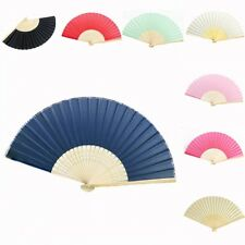 15pcs* Bamboo Silk Fan Hand Folding Fans Outdoor Wedding Party Favors Gifts