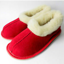 Women's Shoes, Leather, SUEDE & SHEEP  WOOL, Slippers, Brown, UK 4-7