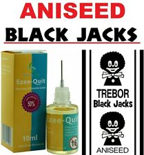 BOTTLE ANISEED FLAVOUR BLACK JACKS BLACKJACK E CIG LIQUID JUICE 6 12 18 24 mg