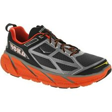 NEW - Men's Hoka One One Clifton Running Shoes - Silver Flame/Black - 30609031