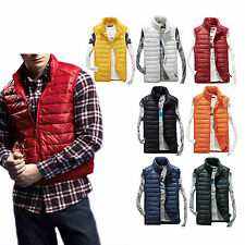 Mens Ultralight Sleeveless Down Vest Winter Windbreaker  Parka Jacket  Down Coat