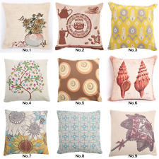 "Fashion Cotton Cushion Cover Back Pillow Case 18""Sofa Pattern Home Decor Vase"