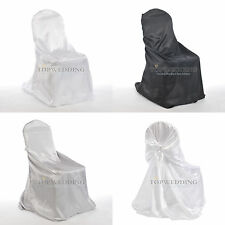 3 Colors Satin Chair Covers Wedding Party Decoration Catering Banquet Universal