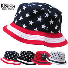 Bucket Hat Boonie US FLAG Hunting Fishing Outdoor Cap Unisex 100% Cotton NEW
