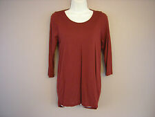 New M*S Rust Red 3/4 Sleeved Long Tunic Top Size 8 10 12 14 16 18 20 22 24 (IN)