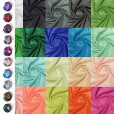 Meters Soft Silk Cotton Blend Fabric Lining Solid Color 9 momme 153cm W +button