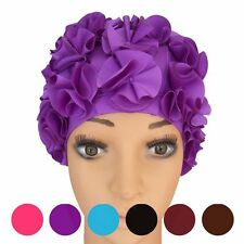 Women Floral Vintage/Retro Swim/Bathing Cap Swimming Cap Long Hair Pretty Ladies