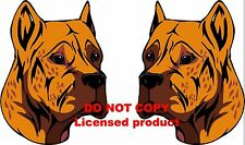 2 Alano Español  dog breed vinyl decals stickers (right & left) full color