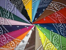 100% Cotton Paisley Bandanna Hair Bands Scarf Neck Head tie Band Pack Of 12-48