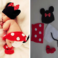 Girls' Boys' Newborn Baby  Knit Crochet Mermaid Bunny Clothes Photo Prop Outfits