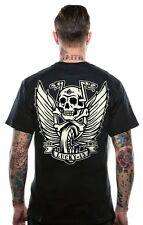 LUCKY 13 FLYING HIGH HOT ROD CAR ROCKABILLY PUNK BIKER GOTH TATTOO T SHIRT S-4XL