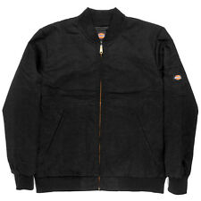 Dickies Coaches Jacket JTC2 (Black) Men's Varsity Work Quilted Lining Zip Up