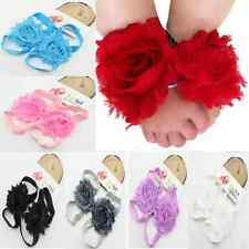Baby Boy Girl New Born Child Flower Feet Toddler Shoes Barefoot Blooms Sandals