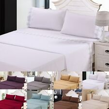 Sale 4pcs 1800 Count Soft Bed Sheet Set King/Queen Size