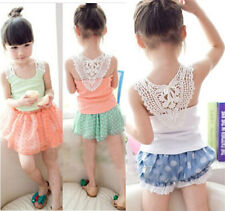 0-3T Toddlers Baby Girls knitted Sleeveless Tank Top Blouse T-Shirt Vests Tops