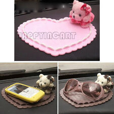 Novelty Cute Cartoon Bear Pad Silicone Heart-shaped Auto Lnterior Non-slip Mat
