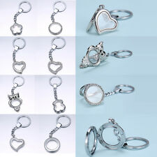 Choose chic 30mm crystal Floating Locket Keychain keyring Charm Jewelry Bracelet