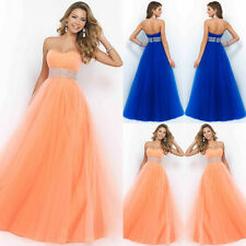 New Long Chiffon Bridesmaid Formal Gown Ball Party Cocktail Evening Prom Dress