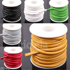 1m 5m Solid Faux Leather Cord PU Thread Wire DIY Jewelry Bracelet Finding 6mm