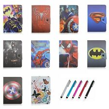 Super Hero Universal Leather Folio Case Cover For 7/8/10inch IOS Android Tablet