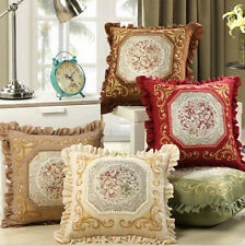 HOT Fashion Home Luxury Embroidery Ruffles Pillowcase Decorative Cushion Covers