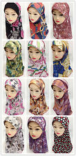 New Mesh Print Children Kids Girls Hijab Islamic Scarf Shawls Arab Headwear