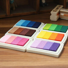 Hot  Gradient Oil Based Ink pad Signet For Paper Wood Craft Rubber Stamp 4 Color