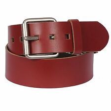 """Men's 2"""" Genuine Leather Belt & Fashion Metal Buckle By Gary Majdell Sport Red"""