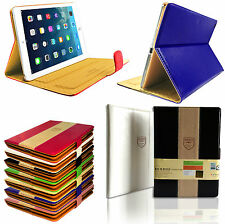 New Luxury Posh Magnetic Stand Case Leather Flip Book Cover for All Apple iPads