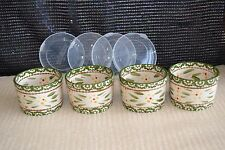 Temp-tations 4 Ramekins 5oz Old World OR Floral Lace  w/ Covers K41971  Colors