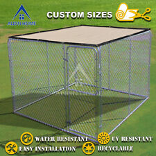 Outdoor Lucky Dog Kennel Shade Cover Knitted Polyethylene Screen With Zip ties