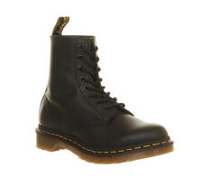 Womens Dr. Martens 8 Eyelet Lace Up Boots BLACK VIRGINIA Boots