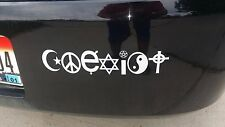 Coexist Decal/Bumper Sticker for Cars, Trucks, SUVs, Boats and Canoes