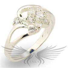 925 Sterling Silver AAA Cubic Zircon CZ Cocktail Engagement Ring 5 9 10 30310